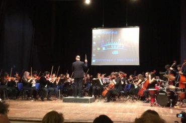 """L'Orchestra Sinfonica del Liceo Statale """"G.Verga"""" di Modica a Vittoria per il Convegno U.S.R. """"LA SCUOLA NON TRATTA"""""""