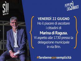 Peppe Cassì incontra i cittadini di Marina di Ragusa presso la delegazione municipale