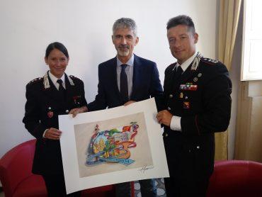 Il sindaco Giuseppe Cassì in visita al Comando provinciale Carabinieri