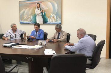 Incontro del Commissario Ficarra con il sindaco Cassì, presente l'assessore Luigi Rabito