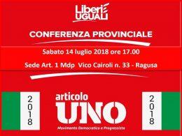 Conferenza politico organizzativa di Art. 1 MDP
