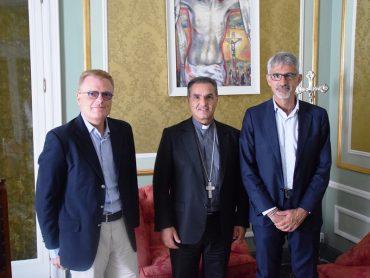 Il vescovo e il presidente della Fondazione San Giovanni Battista incontrano il sindaco di Ragusa