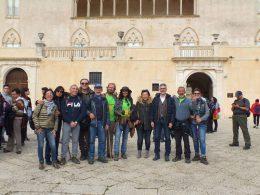I camminatori dell'Antica Trasversale Sicula accolti al Castello di Donnafugata