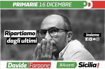 Davide Faraone candidato alle Primarie del PD siciliano che si svolgeranno domenica 16 dicembre 2018. L'appello di Nello Dipasquale