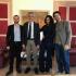 Massimo Iannucci in visita dal Sindaco Cassì con due esponenti della Lega di Salvini