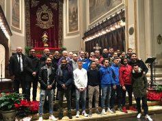 Santa Messa di Natale, per il Ragusa Calcio, con i Vescovi Cuttitta e Di Quattro