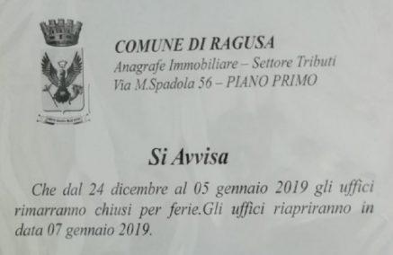 I 5 Stelle al Comune di Ragusa si soffermano sulle 'vacanze' dell'Ufficio Lamco, ma ignorano quelle programmate dal Comando della Polizia Municipale