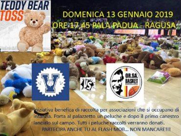 """""""TEDDY BEAR TOSS"""", a Ragusa aderisce anche la Virtus"""