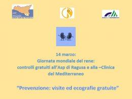 Giornata Mondiale del Rene: controlli gratuiti all'Asp di Ragusa e alla Clinica del Mediterraneo