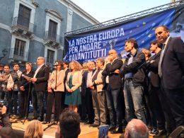 Il PD ragusano a Catania per il comizio di Nicola Zingaretti