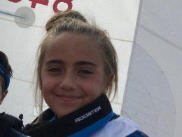 Chiara Cartia del Circolo Velico Kaucana ai Giochi delle Isole, a Bastia, in Corsica