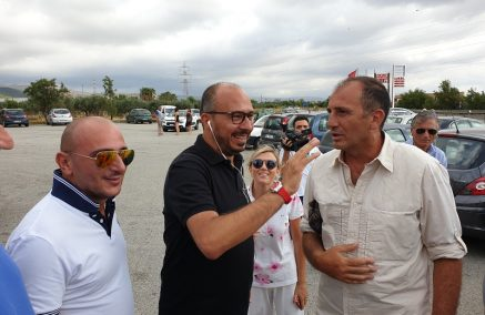 E' partita la marcia di Davide Faraone e Nello Dipasquale sulla Ragusa – Catania