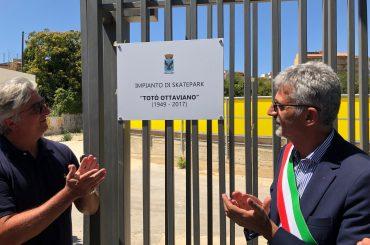 Intitolato al Maestro dello Sport Totò Ottaviano l'impianto di Skate Park di via Napoleone Colajanni