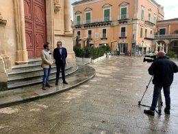 RAI news 24 a Ragusa Ibla con l'assessore Ciccio Barone