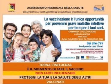Aperture straordinarie del Servizio Epidemiologico per la vaccinazione antinfluenzale