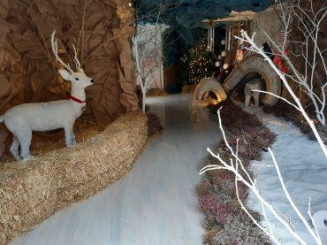 "La ""Fabbrica di Babbo Natale"", in via Roma, meta di tanti bambini"