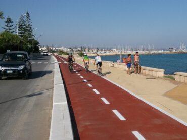 Interventi di messa in  sicurezza di un  tratto della pista ciclabile di Marina di Ragusa