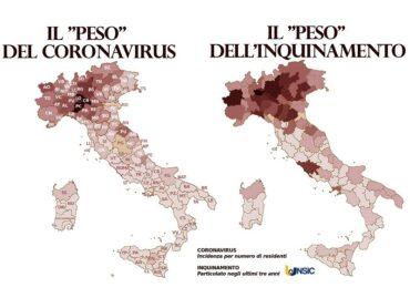 Inquinamento e Covid-19, i dati provinciali per riflettere