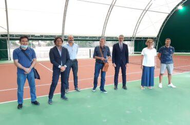 Inaugurata la tensostruttura del campo di tennis del villaggio Gesuiti