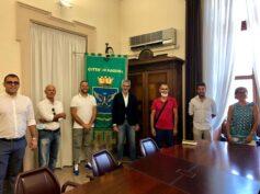 La nuova dirigenza dell'Asd Ragusa Calcio 1949 ricevuta a Palazzo dell'Aquila