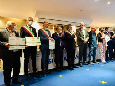 """Il sindaco Cassì ha ritirato, a Catania, il riconoscimento """"Sicilia Virtuosa"""""""