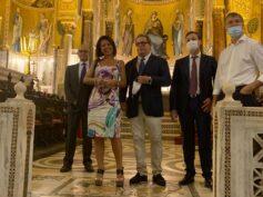 Il presidente Miccichè riceve a Palazzo Reale il ministro De Micheli
