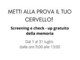All'ASP di Ragusa dal 1° luglio screening e check-up della memoria gratuito
