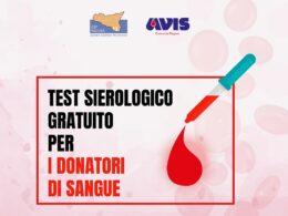 Test sierologico gratuito per i donatori in occasione della donazione