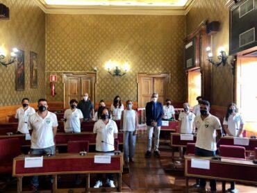 L'ASD Futsal Ragusa di calcio a 5 femminile ricevuta a Palazzo dell'Aquila