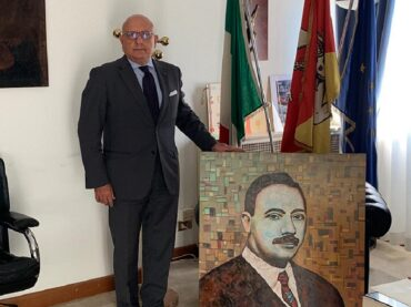 Relazioni Italia-USA: ricevuto ufficialmente dal Vicepresidente Armao il pittore siciliano che ha donato un'opera agli italoamericani