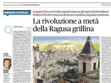 E dopo altri tre anni, a Ragusa, un'altra rivoluzione a metà