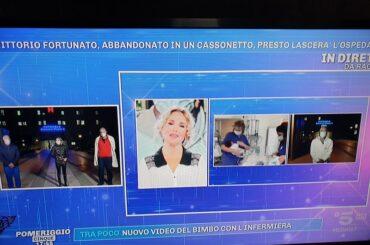 Aperto il conto corrente per il neonato abbandonato, proposto dal consigliere Sergio Schininà, ne dà notizia Barbara D'Urso a Pomeriggio Cinque su Canale 5