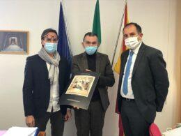 Incontro del segretario PD, Calabrese, con il soprintendente De Marco, presente l'on.le Dipasquale
