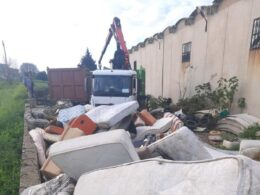 Rimossi rifiuti speciali lungo le strade extraurbane comunali da parte del Libero Consorzio