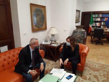 Incontro dell'assessore regionale Samonà, a Roma, con il sottosegretario Lucia Borgonzoni