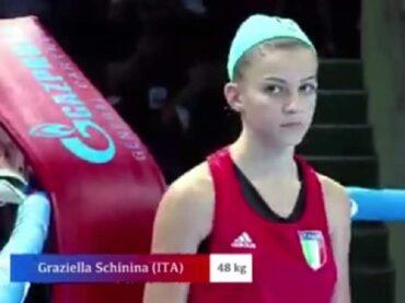 Solo 'Argento' per Graziella Schininà nella finale degli Europei di boxe femminile