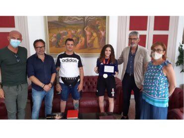 Graziella Schininà, medaglia d'argento agli europei di pugilato, accolta a Palazzo dell'Aquila